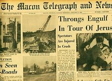 Newspaper Football Jim Brown MVP POPE Golf Auburn Intergrates Macon Georgia 1964