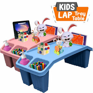 Kids Multipurpose Plastic Table Lap Tray Floor Activity Portable Study Bed Desk