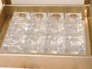 Antique Salt Cellars DIish  6 -24% Lead Crystal Bevel Cut - 2 SETS  EXCELLENT