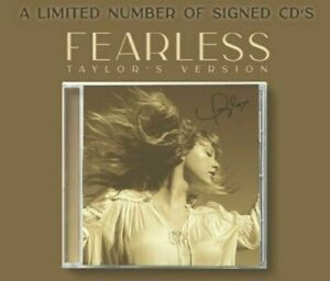 ✅🔥TAYLOR SWIFT SIGNED FEARLESS (TAYLOR'S VERSION) CD AUTOGRAPHED