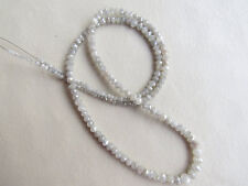 "Loose Rough Diamond Beads Faceted White Raw 3mm-2mm 16"" Strand KA33"