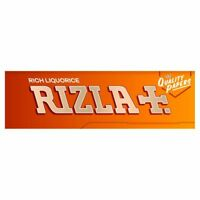 RIZLA LIQUORICE SINGLE SMOKING CIGARETTE TOBACCO THICK ROLLING PAPERS PACKS