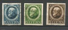 Allemagne Bavière 1914/20 Louis III 3 timbres oblitérés /TR311