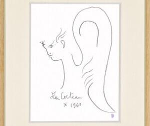 Jean Cocteau Drawing Male Figure Gay French Angel Portrait