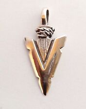 Tribal Artisan Sterling Silver 925 Arrowhead Necklace Pendant Mens Jewelry Charm