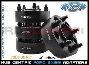 "4 5X135 WHEEL SPACERS ADAPTERS 2"" INCH THICK FORD F-150 
