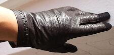 Handschuhe Damen Leder Kaiser Leather Fingerhandschuhe Muster Zartbitter 7 3/4