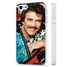 Magnum PI Tom Selleck Ferrari Funda de teléfono blanco encaja iPHONE