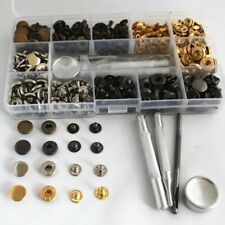 Heavy Duty Poppers Snap Fasteners Press Stud Button Leather Craft Tools 165Pcs