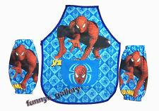 Spiderman HERO Young boy Kids Cooking / Painting Apron set + 2 sleeves