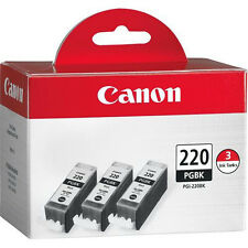 Genuine Canon PGI-220 3PK ink 220 iP3600 iP4600 iP4700 MP620 MP990 MX860 MX870