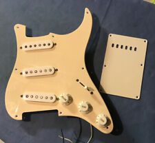 Loaded 2007 Fender Squier Affinity Pickguard & Backplate  - Aged Cream SSS