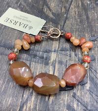 Barse Sunrise Sunset Toggle Bracelet- Mixed Stones- Copper