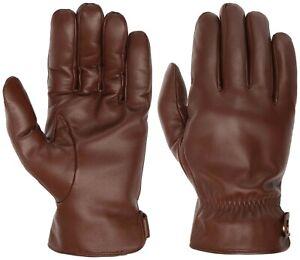 Stetson Gloves Nappa Leather Gloves 9497206 Dark Brown