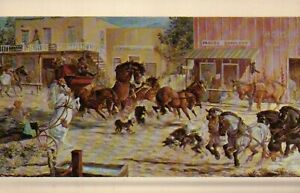 PLEASE READ ! Hildred Goodwine Horses Cowboy Art SD - Standard Chrome Postcard