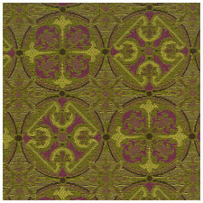 Tapestry Floral Medallion Green Purple Crypton Upholstery Fabric 0406-658