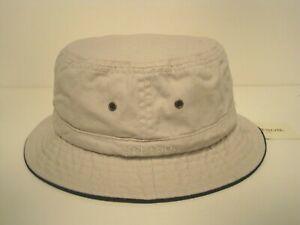 STETSON cotton BUCKET porkpie style HAT color PUTTY MEDIUM