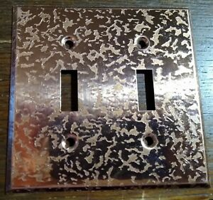 1 NOS vintage textured copper double switchplate cover