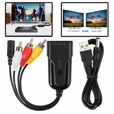 HDMI auf SCART Konverter Video Audio HD TV Adapter 1080P für DVD SKY + USB Kabel