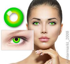 Crazy Farbige Party Karneval Halloween Kontaktlinsen Contact lenses - HULK GREEN