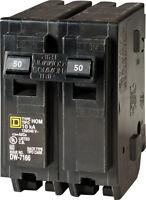 Square D  HomeLine  50 amps Plug In  2-Pole  Circuit Breaker