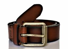 Levi's Men's Beveled Roller Buckle Leather Belt Brown