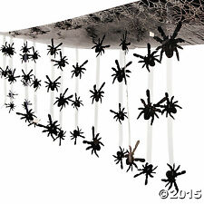 Halloween Spider Ceiling Decoration - 12 ft. x 1 ft. Plastic