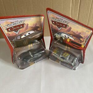 Disney Pixar Cars Darrell Cartrip & Bob Cutlass Diecast 1:55 Combine Post
