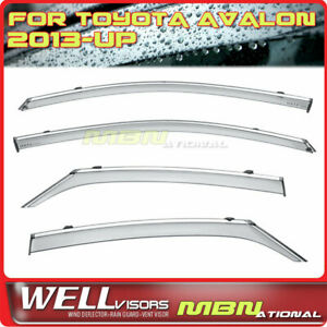 Wellvisors Rain Sun Wind Deflectors For Toyota Avalon 13-18 Window Visors