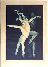 "G H ROTHE ORIGINAL SIGNED MEZZOTINT ""DANCE, BEJART"" 1973 (35"" X 24"")"