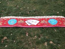 ANTIQUE EARLY 20th REPUBLIC CHINESE EMBROIDERED SILK PANEL/ PRESENTATION BANNER!