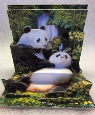 PopShots 3D Pop-Up Greeting Card THE GIANT PANDA WRITE MESSAGE ON THE BACK