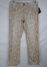 Tommy Hilfiger Womens Skinny Ankle Crop Jeans Size 8 (32x28) Tan Safari Print