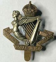 WW1 8th king's Royal irish Hussars Cap Badge Original
