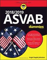 2018 / 2019 ASVAB For Dummies 1st Edition by Angie Papple Johnston Paerback NEW