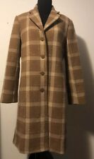 Dkny Women'S Plaid woven Walker Wool Blend Coat Size 12 Spotless Condition