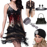 1920s Women's Dress Flapper Costumes Evening Gowns Short Prom Party Cocktail