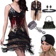 1920s Dress Flapper Costumes Evening Gowns Short Prom Party Cocktail Accessories