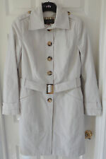 Per Una Stone Colour SZ 8 Single Breasted Panelled Mac with Belt, BNWT, Was £75