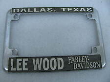Lee Wood Harley Davidson Dallas Texas License Plate Mount Frame Knucklehead