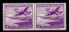 CHILI - CILE - PA - 1950/53 - Serie ordinaria. Aereo e teleferica - 40 cent.