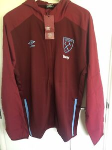 Official West Ham United 20/21 Hooded Training Jacket Size XL - New With Tags
