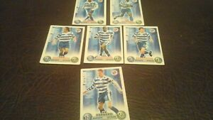 6X TOPPS  MATCH ATTAX READING CARDS