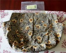 Longaberger Picnic Tote Khaki Floral Over Edge Basket Liner Brand New In Package