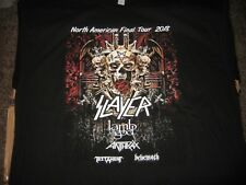 Slayer  2018  North American Final Concert Tour T Shirt XL