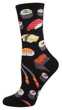 Socksmith Women's Novelty Crew Socks Ssw1382 Sushi - Black