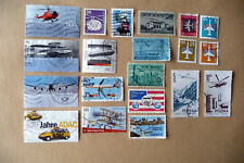 20 verschiedene Briefmarken Motiv Flugzeuge, Set 1a