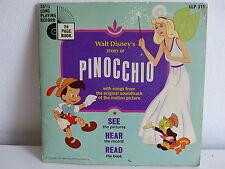 Livre disque Pinocchio DISNEY ( en anglais ) LLP311