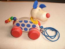 Selecta Rollspielzeug Nachzieh Nico Hund aus Holz