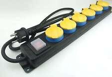 6-fach Schuko-Mehrfachsteckdose H07RN-F 3x1,5mm² gelb Schalter Steckdosenleiste